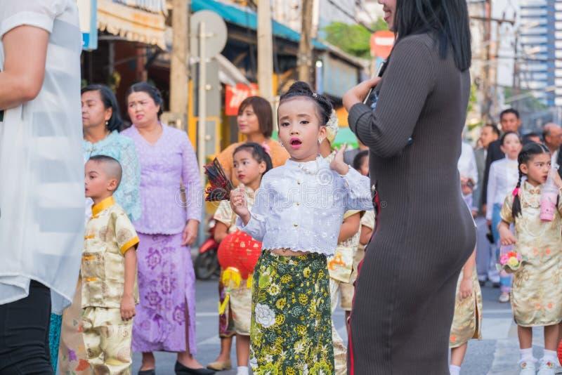 Parada do 18o Ano Novo chinês de Phuket e da cidade velha F de Phuket fotografia de stock