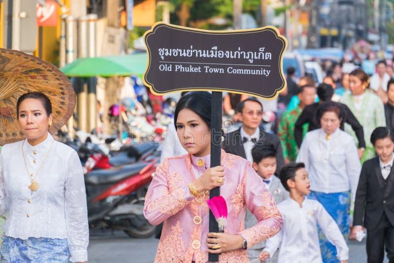 Parada do 18o Ano Novo chinês de Phuket e da cidade velha F de Phuket foto de stock royalty free