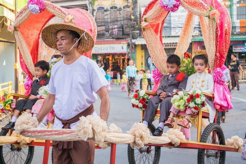 Parada do 18o Ano Novo chinês de Phuket e da cidade velha F de Phuket imagem de stock