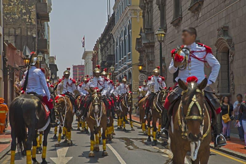 Parada do ` s de domingo, Lima Perú foto de stock