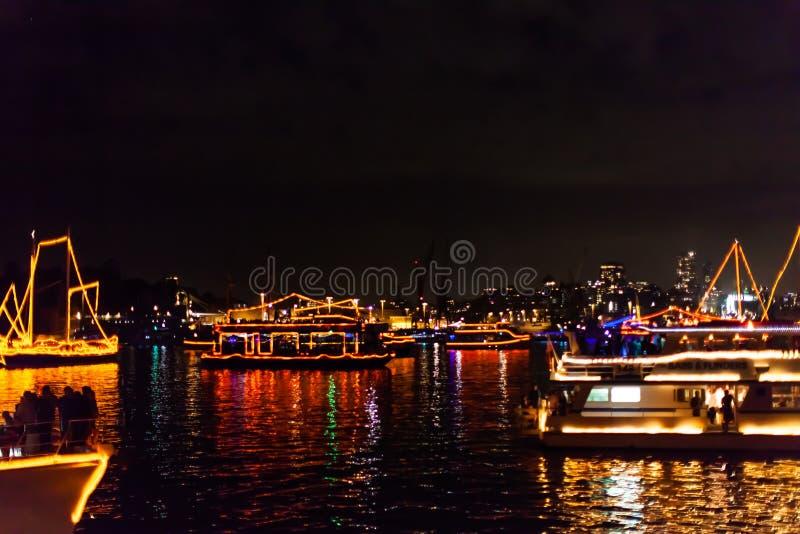 Parada dos barcos de Sydney NYE 2015 imagens de stock
