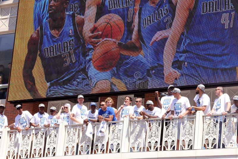 Parada dos campeões dos independentes de NBA imagem de stock