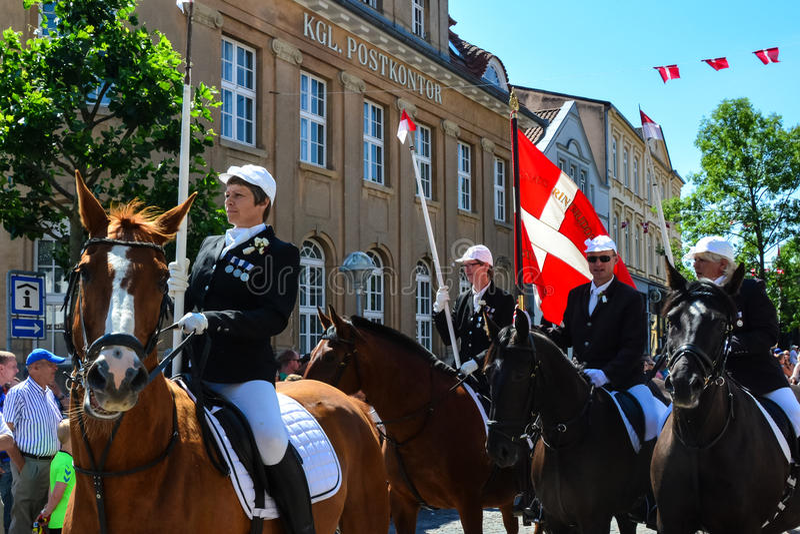 Parada dos cavaleiros, Sonderborg, Dinamarca (2) foto de stock royalty free