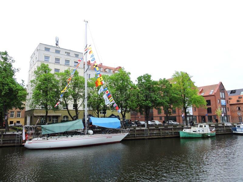 A parada dos navios comemora em Klaipeda, Lituânia imagem de stock royalty free
