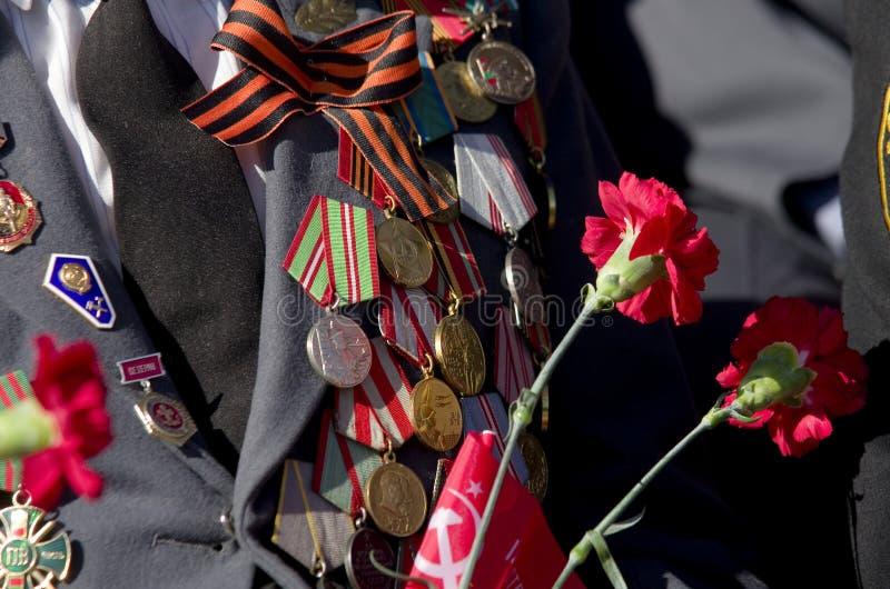 A parada em Tyumen em honra de pode 9, 2018 Veterano fotos de stock royalty free