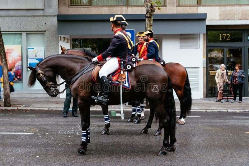 Parada espanhola do exército do dia nacional no Madri fotografia de stock