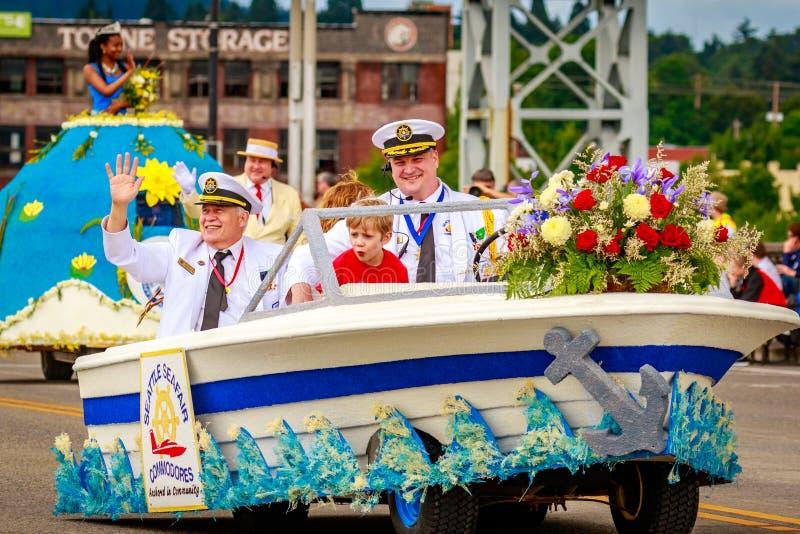 Parada floral grande 2016 de Portland fotografia de stock