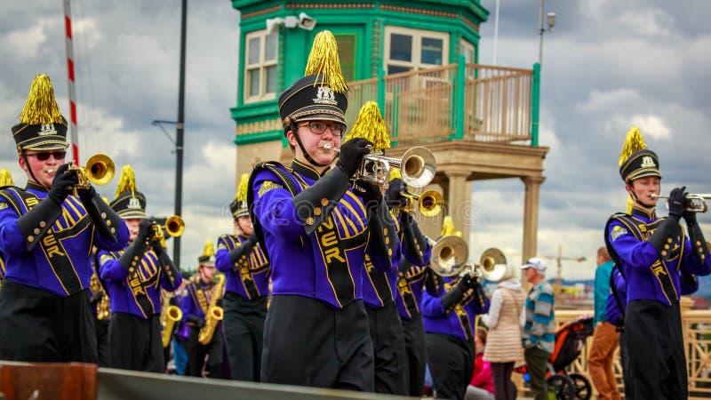 Parada floral grande 2019 de Portland fotografia de stock