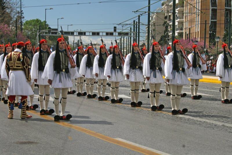 Parada grega do Dia da Independência fotografia de stock royalty free