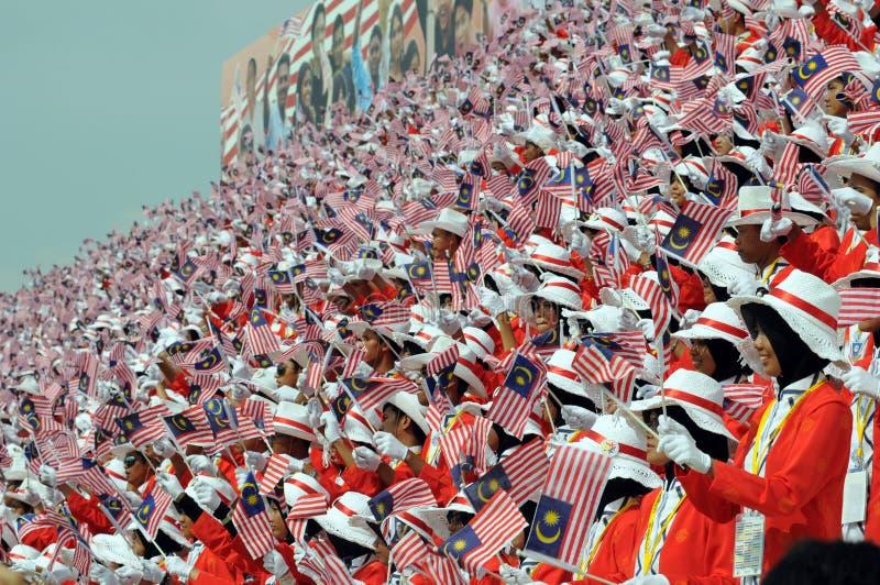 Parada independente do dia de Malaysia foto de stock royalty free