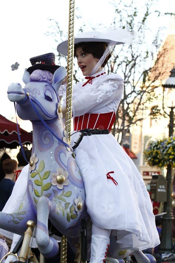 Parada Mary Poppins de Disneylândia imagem de stock royalty free