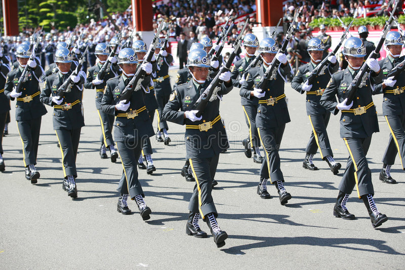 Parada militar em Formosa foto de stock