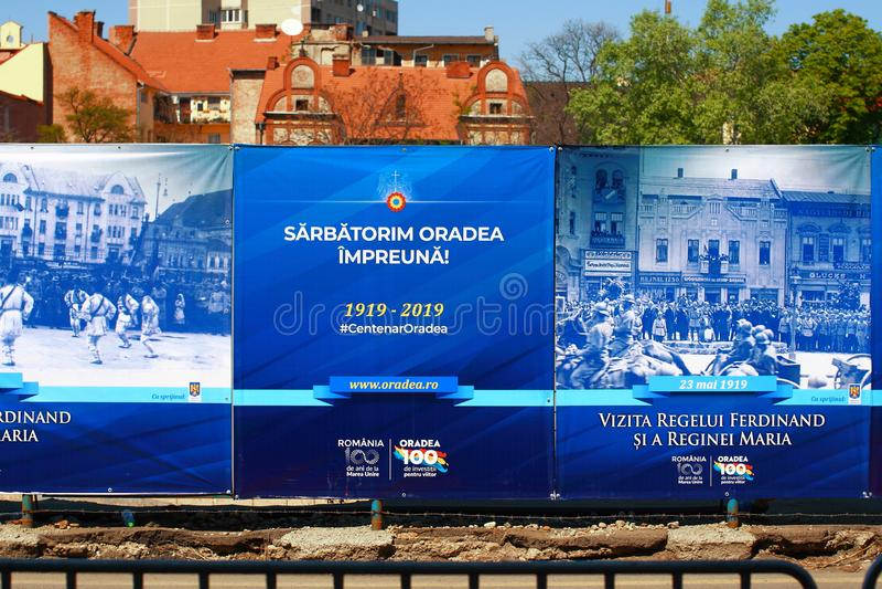 Parada militar Oradea Mare Centenary 2019 fotos de stock royalty free