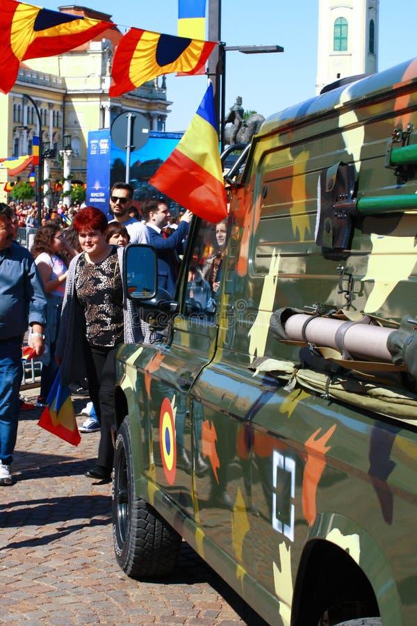 Parada militar Oradea Mare Centenary 2019 foto de stock