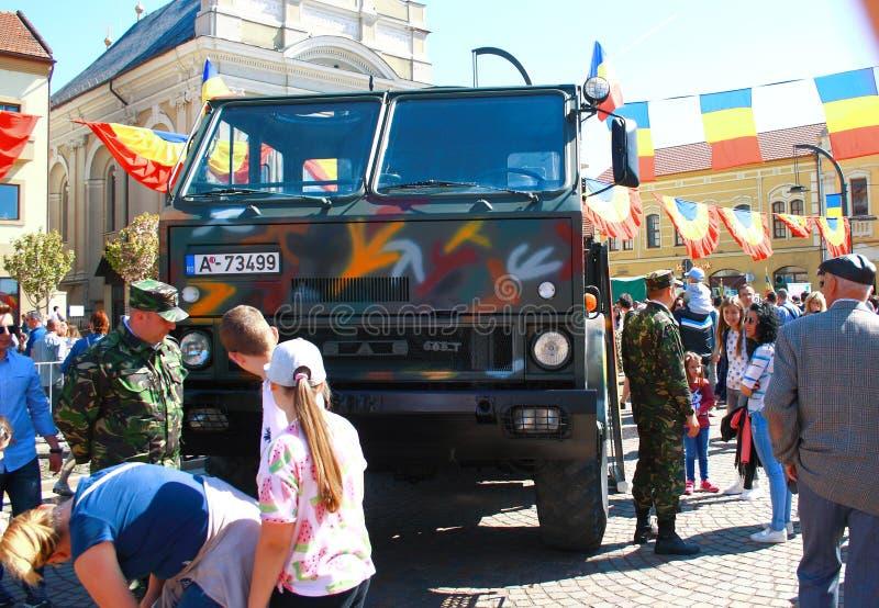 Parada militar Oradea Mare Centenary 2019 imagens de stock royalty free