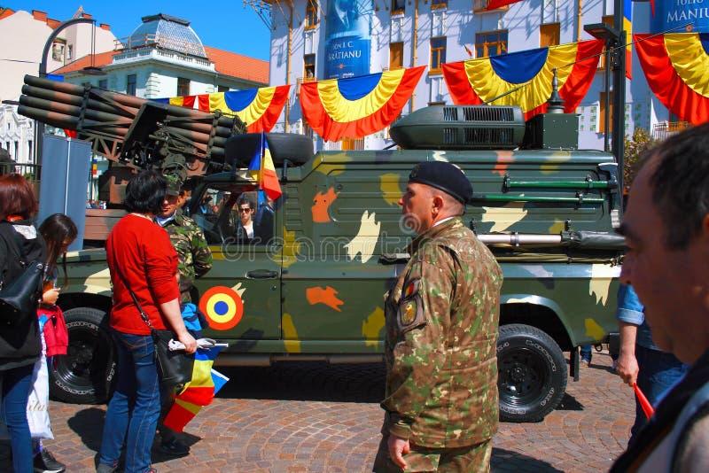 Parada militar Oradea Mare Centenary 2019 imagem de stock