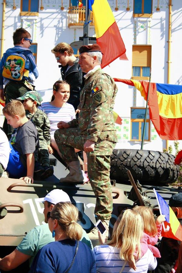 Parada militar Oradea Mare Centenary 2019 fotos de stock