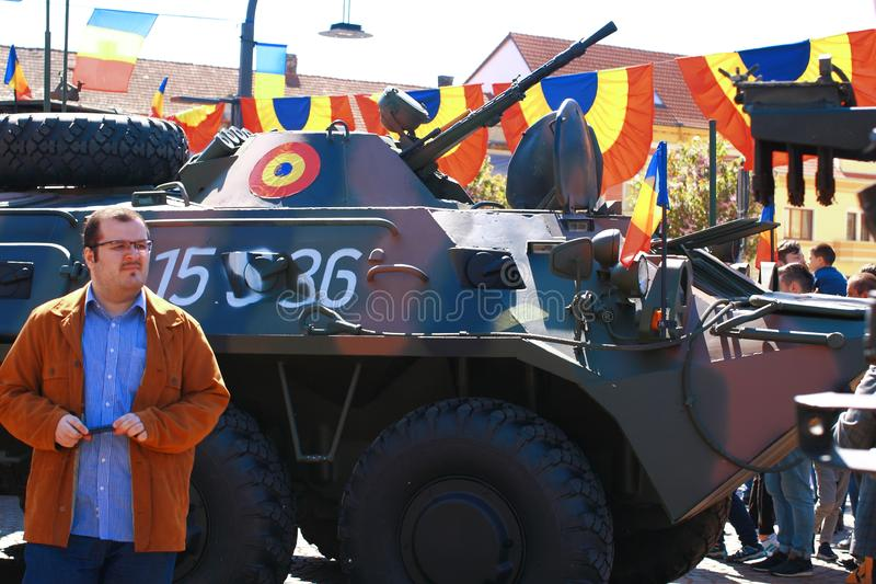 Parada militar Oradea Mare Centenary 2019 fotografia de stock royalty free