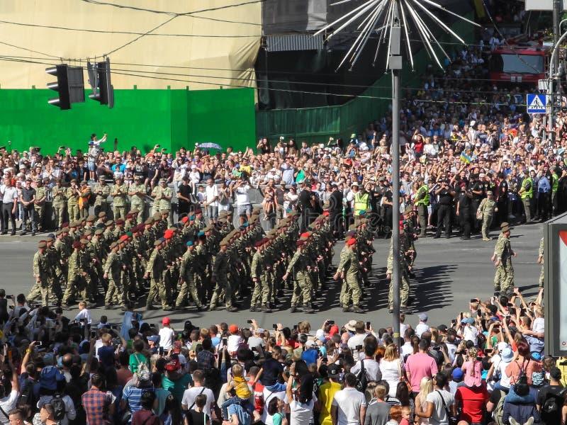 Parada militarny narzędzia w Kijów w Ukraina 2018 obrazy royalty free