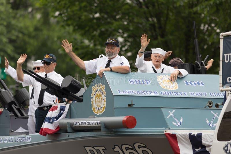 A parada nacional de Memorial Day fotografia de stock