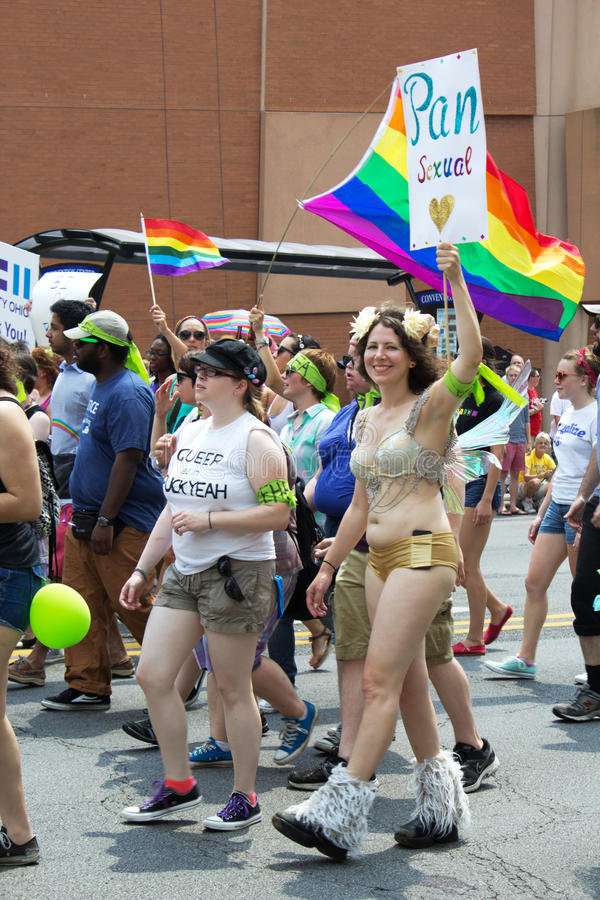 Parada Pan Sexual Sign de Columbus PRIDE imagem de stock royalty free