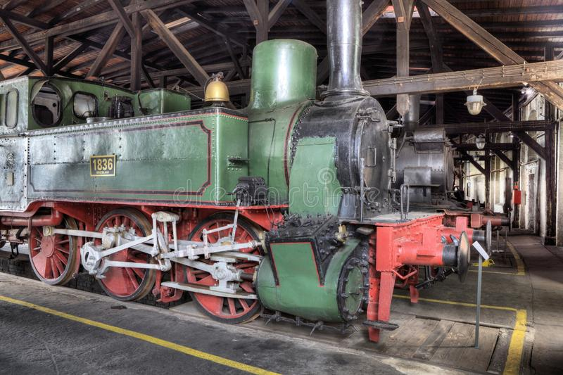 Parada parowe lokomotywy obraz royalty free
