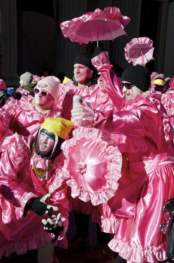 Parada Philadelphfia dos Mummers foto de stock