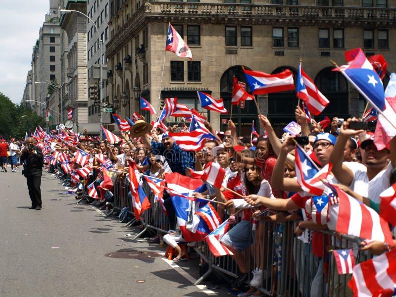 Parada porto-riquenha do dia fotos de stock royalty free