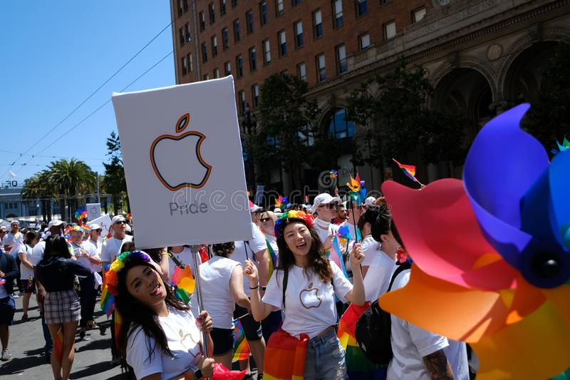 Parada Pride San Francisco 2019 zdjęcia royalty free