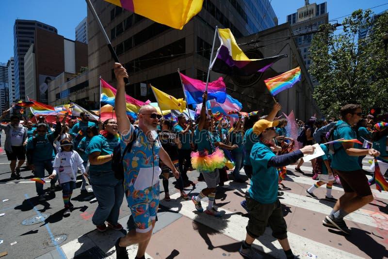 Parada Pride San Francisco 2019 zdjęcie royalty free