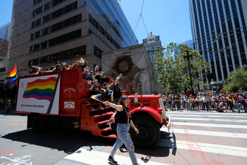Parada Pride San Francisco 2019 obrazy royalty free