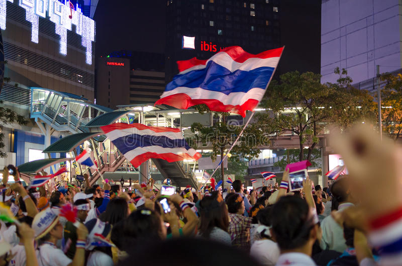 Parada programada Banguecoque. Tailândia. fotografia de stock royalty free