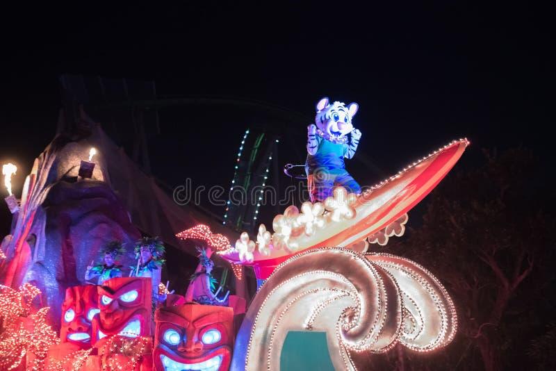 Parada przy Chimelong oceanu królestwa kurortem w Zhuhai, Chiny fotografia stock