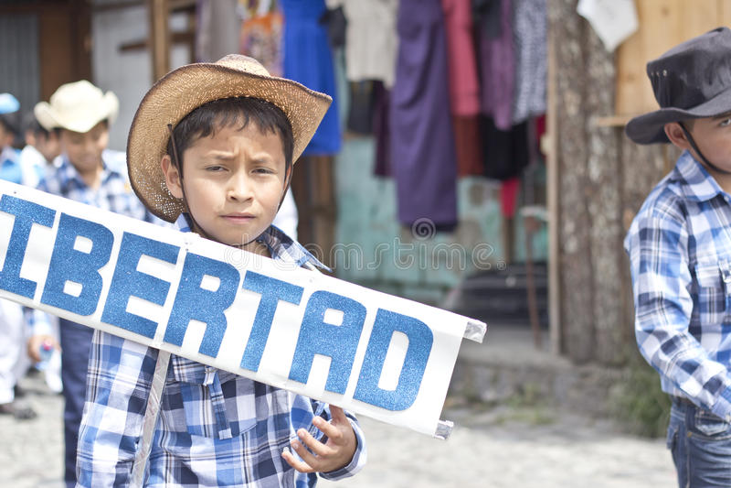 Parada que comemora a independência da Guatemala fotografia de stock