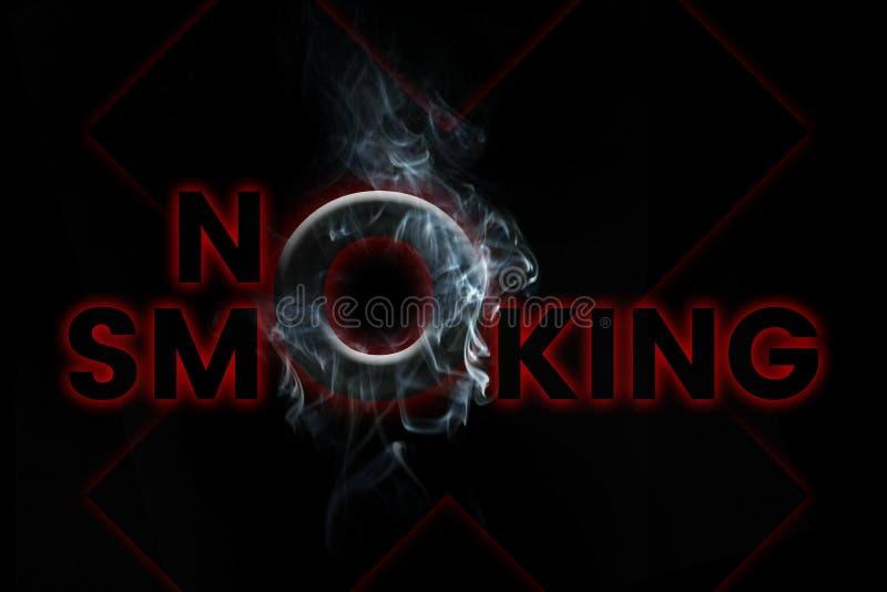 - Parada que fuma - el fumar de no fumadores mata a arte conceptual stock de ilustración