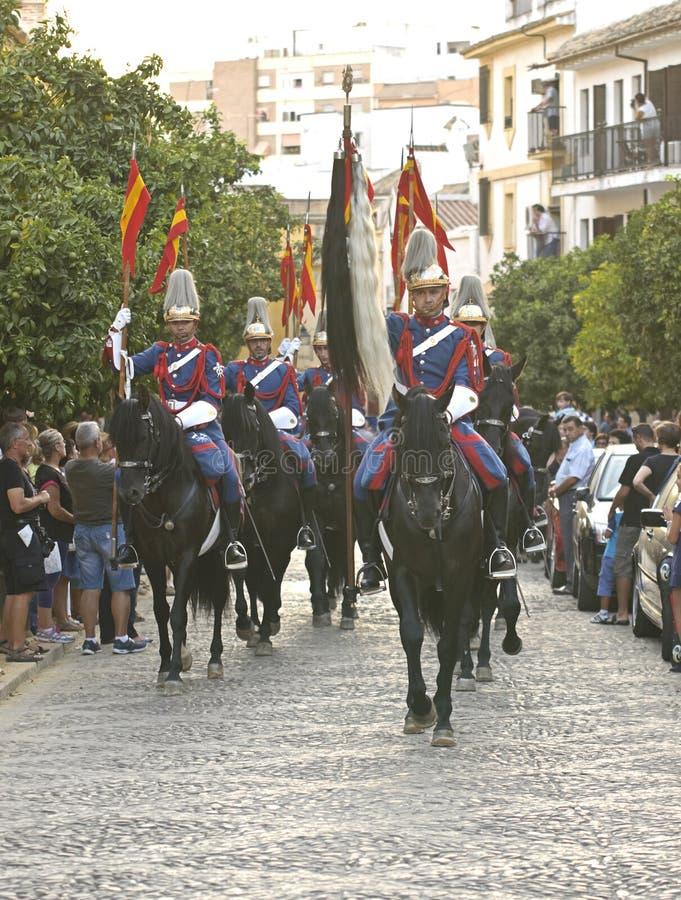 Parada real do protetor em Córdoba para marcar a feira de cavalo fotografia de stock royalty free
