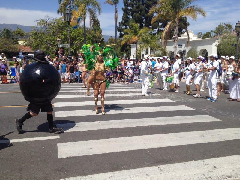 Parada Santa Barbara do solstício imagem de stock royalty free