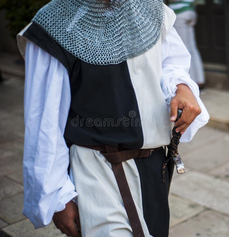 Parada z kostiumami wieki średni obrazy royalty free