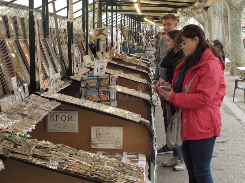 Paradas del mercado en Roma fotos de archivo libres de regalías