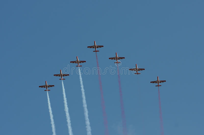 Parade In The Air Royalty Free Stock Image