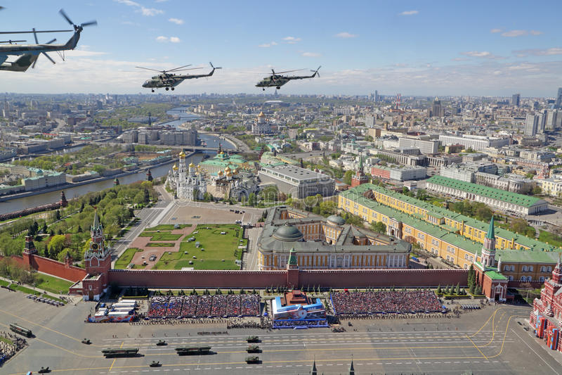 Parade auf Rotem Platz lizenzfreie stockfotografie