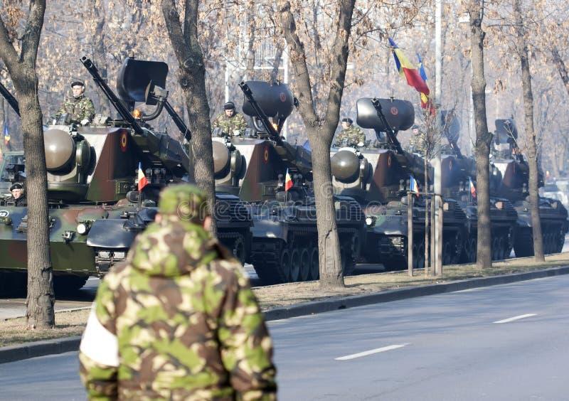 Parade bij Roemeense nationale dag royalty-vrije stock afbeelding