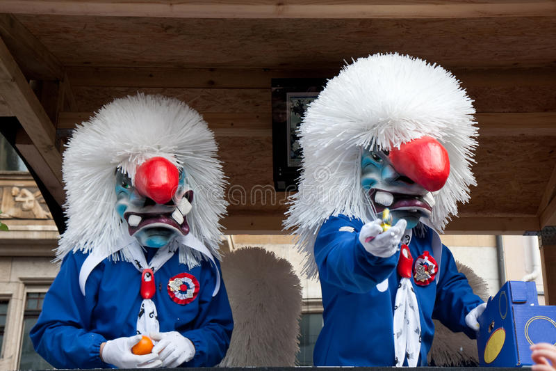 Parade, Carnaval in Bazel, Zwitserland royalty-vrije stock foto