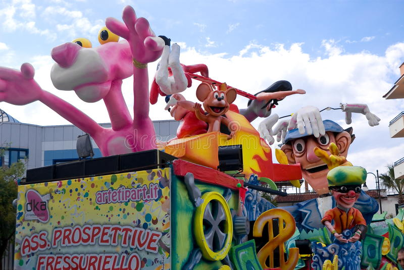 Download Parade of Carnival floats editorial stock photo. Image of party - 38675573