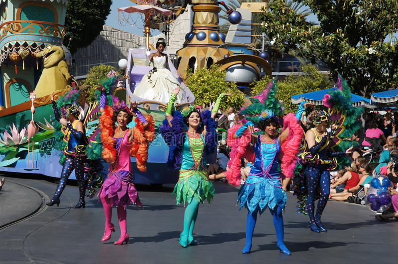 Parade At Disneyland Editorial Photo