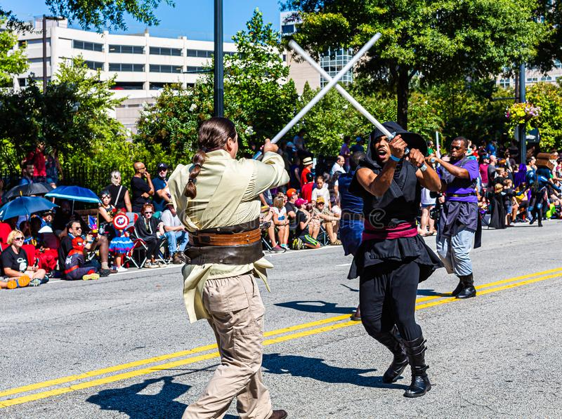 Parade DragonCon 2019 à Atlanta images stock