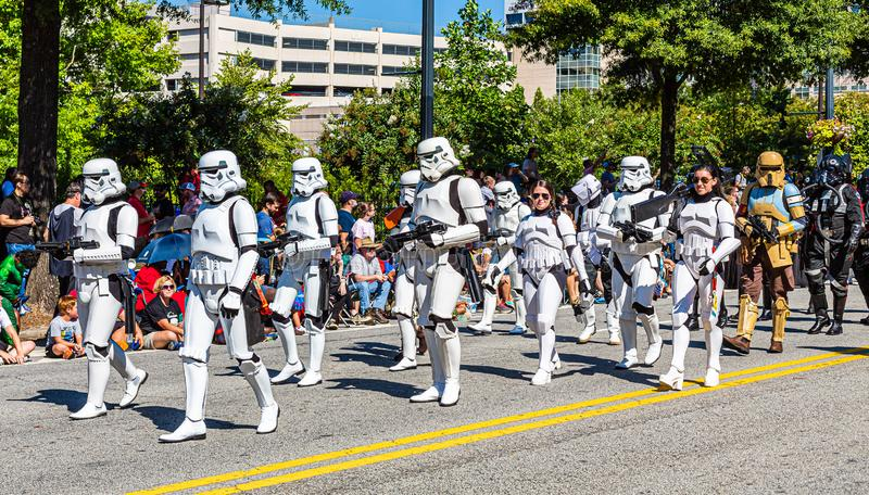 Parade DragonCon 2019 à Atlanta photo stock