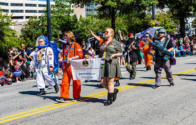 Parade DragonCon 2019 à Atlanta photographie stock