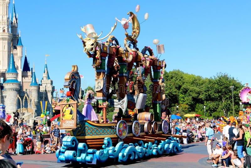 Parade float at Disneyworld. Colorful parade float at Disney's Magic Kingdom royalty free stock images
