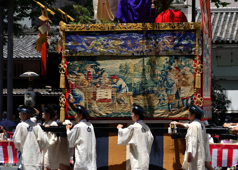 Parade of Gion festival, Kyoto Japan in July. stock photos